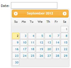 HTML5 Datepicker